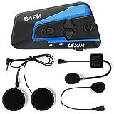 LEXIN LX-B4FM interfono moto, moto auricolare bluetooth con FM, interfono Bluetooth per moto fino a 4 riders, casco interfono bluetooth con cancellazione del rumore, comunicazione Bluetooth per moto
