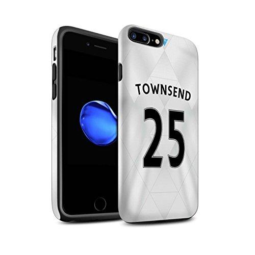 Offiziell Newcastle United FC Hülle / Matte Harten Stoßfest Case für Apple iPhone 7 Plus / Tioté Muster / NUFC Trikot Away 15/16 Kollektion Townsend
