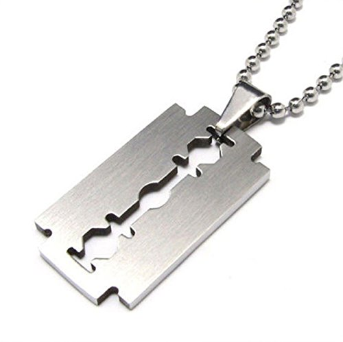 Collar, cadena de acero inoxidable HS86 con...