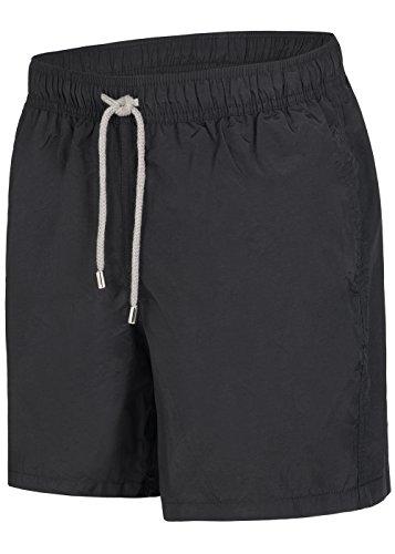Herren Badeshorts - in vielen trendigen Farben - Badehose Bermudashort (L, Black)