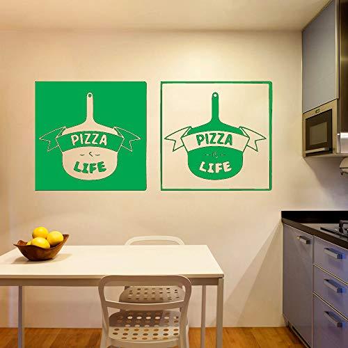 Mode Kreative Fast Food Pizza Leben Vinyl Wandaufkleber Für Küche zimmer Pizza Shop Wohnkultur Kunst Wandtattoos 42 * 91cm F