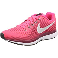Nike Wmns Air Zoom Pegasus 34, Zapatillas de Running para Mujer, (Racer Pink/Vast Grey 605), 38.5 EU