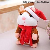 Coomir Cheeky Hamster Hablar Eléctrico Caminar Mascotas Navidad Juguete Hablar Record Hamster Gift