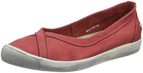 Softinos Damen ILMA Geschlossene Ballerinas Rot (Red) 35 EU