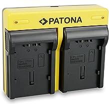 PATONA Dual Cargador Panasonic CGA-DU14 DU21 VW-VBG6 VBG130 VBG260 con micro USB