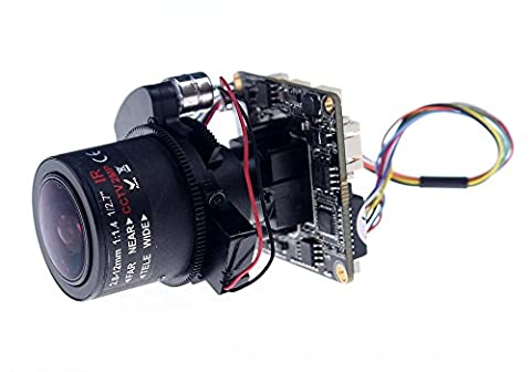 "Quanmin H.264 2MP Full HD 1080P 1/2.9"" CMOS Sony IMX322+HI3516C With 3X Motorized Lens Auto-Zoom Iris Motorized 2.8-12mm Lens Support Onvif CMS P2P View IP Camera Module PCB Board"