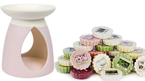 kee Candle Pastell Hue Wax Melt Brenner inkl. 12x Verschiedene Tarts (Halloween-torte)