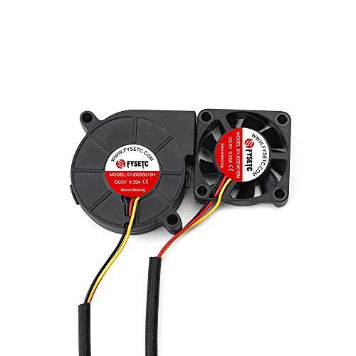 FYSETC Prusa i3 MK3 Kühlgebläse Lüfter Kit 4010 5010 DC 5V Extruder Hotend Kühler für 3D-Drucker DIY Teile, 2 Stück -