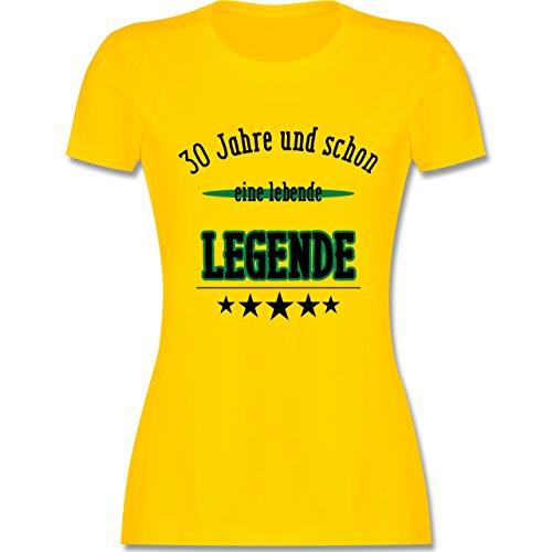 Geburtstag - 30.Geburtstag Legende Fun Geschenk - tailliertes Premium T-Shirt mit Rundhalsausschnitt für Damen Gelb