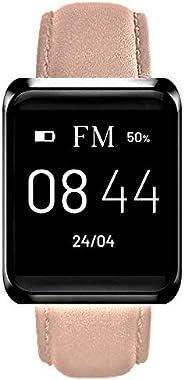 FLORENCE MARLEN | Design Italiano | Smartwatch Donna FM1S Capri Cinturino Pelle Rosa | Orologio, Fitness Tracker, Impermeabi