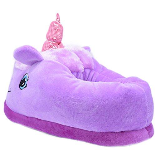 Pl眉schtieren in Pin f眉r Halloween Unisex Zwecke Unicorn Einhorn Form f眉r Erwachsene Schuhe Cosplay Porpora Ausr眉stung Hausschuhe Lath von xqEwdXEO