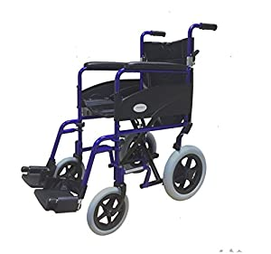 Simplelife Lightweight Folding Aluminium Transit Wheelchair