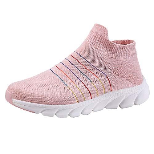 OSYARD Basket Femme Chaussures de Sport Mode Chaussette de Chaussures Jogging Maille a Enfiler Sneaker Fitness Fond Mou Sport Shoes