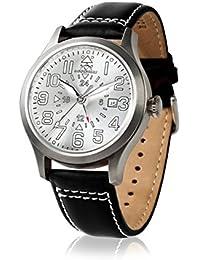 Hindenberg 790116 - Reloj para hombres, correa de cuero color negro