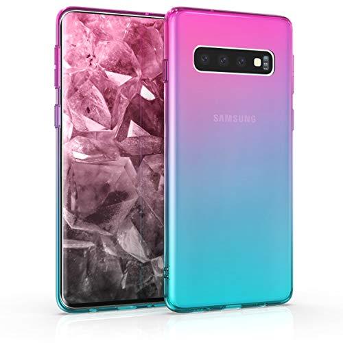 kwmobile Samsung Galaxy S10 Hülle - Handyhülle für Samsung Galaxy S10 - Handy Case in Pink Blau Transparent