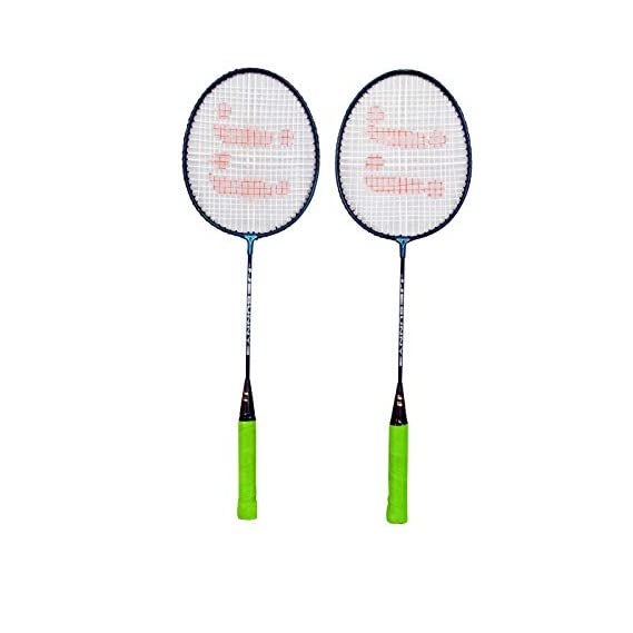 JJ Jonex Sunny 2 Rackets with Full Cover Colors Vary @Kin Store Multi Color Strung Badminton Racquet