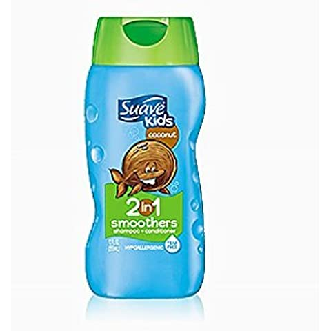 Suave Shampoo Kids Coconut Smoothers 2-in-1 Shampoo & Conditioner 12oz Bottles by Suave