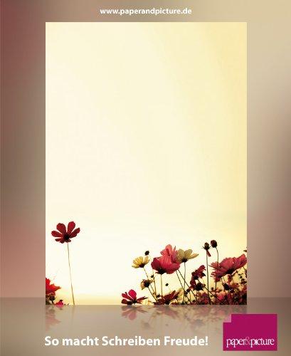 Motivpapier SUNNY FLOWERS 20 Blatt DIN A4 - Sommer Sonne Blumen