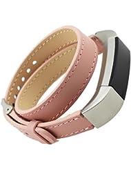 Pour Fitbit Alta Bracelet ,Clode® Double Tour de cuir véritable bracelet montre bracelet Bracelet Pour Fitbit Alta