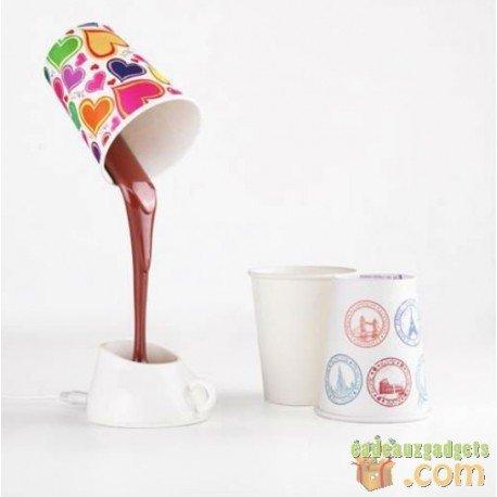 Choco Coffee lamp - lampada da tavolo a forma di cioccolato sciolto