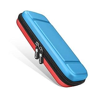 Fintie Tragetasche für die Nintendo Switch – [Stoßfeste] Hartschalen Aufbewahrungstasche mit 10 Spielkartenhaltern, Haltegurt für die Nintendo Switch Konsole Joy-Con & Accessoires