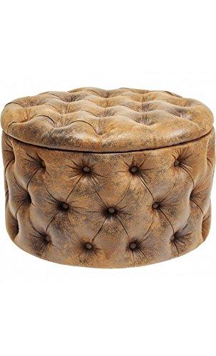 Kare Design–Sitzsack Capitone Effekt Leder Vintage Braun Desire