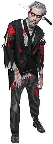 Bloody Zombie Butler, Herren Kostüm, Halloween, Horror, Erwachsene, Kostüm, Outfit