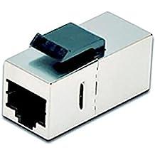 NanoCable 10.21.0503 - Empalme para cable de red Ethernet RJ45 para panel de parcheo o roseta, hembra-hembra, Cat.6, STP