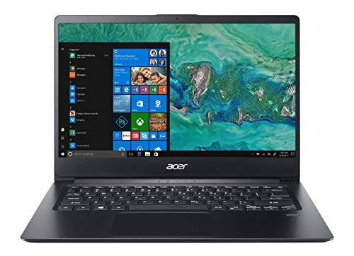"Acer Swift 1 SF114-32-P2BU Notebook con Processore Intel Pentium Nero N5000, Ram 4 GB DDR4, 128SSD, Windows 10 S Home, Display 14"" FHD, Nero"