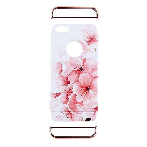 "Apple iphone Schutzhülle Kreativität handlich abziehbar case 3D Reliefmalerei Slim PC Hard Back Case Cover (iPhone 5/5S/5SE 4"", Eiffelturm) Blume 2"