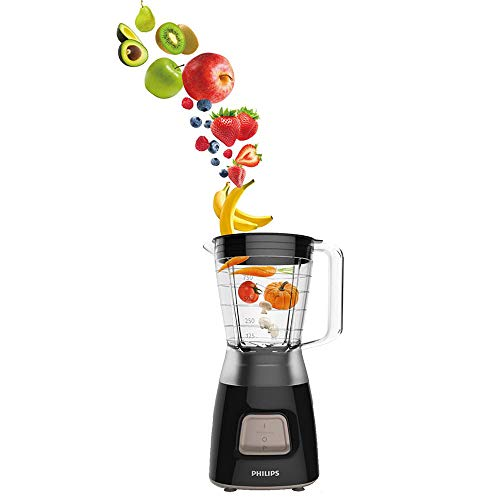 Philips HR2052/91 Daily Collection Blender, 1.25 Litre, 450W, Black Img 1 Zoom