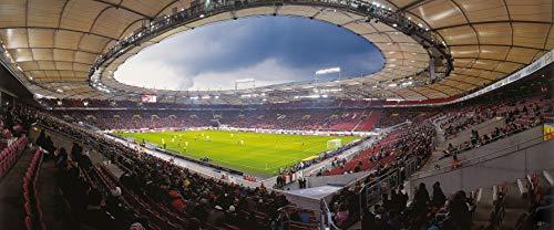 Stuttgart Stadion Panorama - Poster 120 x 50 cm - hochwertiger FineArtPrint -