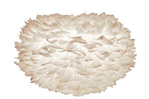 VITA Eos L, lámpara colgante auto-montable de verdaderas plumas de ganso apta para A++ bis E y medidas 65 x 65 x 40 cm