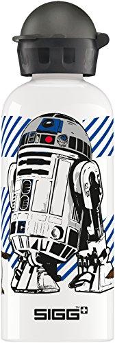 Sigg Kinder Star Wars Friendly Droid Auslaufsicher, Bpa Frei, Aluminium Trinkflasche, Weiß, 0.6 L