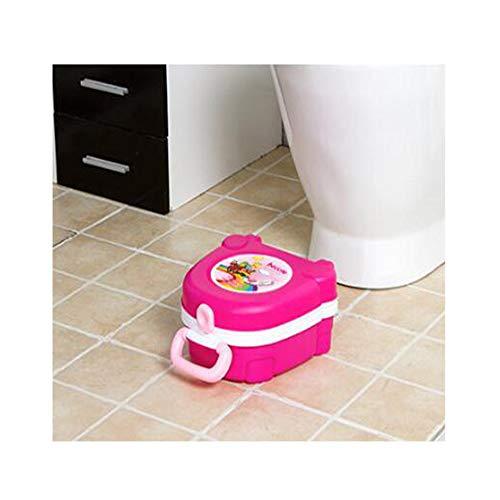 OOFAYWFD Portable Toilette Enfant Dessin animé Pliable Voiture Portable bébé urinoir,Pink