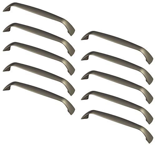 Gedotec Schubladengriffe Edelstahl Möbelgriffe 128 mm Bügelgriffe - GR10015   Griff Höhe 25 mm   Metall Küchengriff abgerundet   Möbelbeschläge   10 Stück - Bogengriffe für Schränke & Kommoden