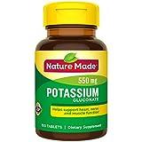 Nature Made Potassium Gluconate, 550mg, 100 Tablets