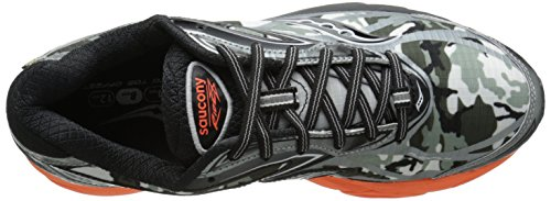 Saucony Herren Ride 8 Gtx Trainingsschuhe Multicolore (Grey/Noir/Orangepa)