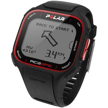 Polar RC3 GPS Cardiofréquencemètre mixte adulte Noir/Rouge 3.3-4 cm