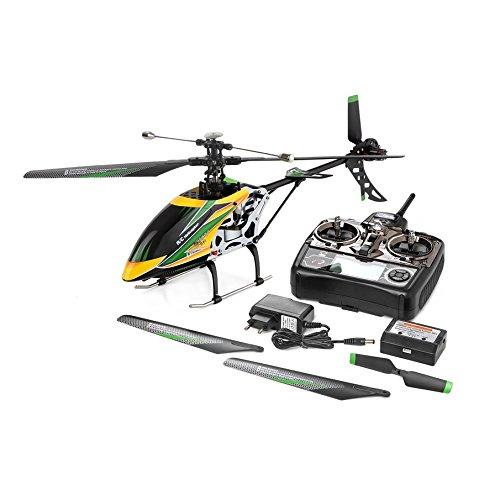 KNOSSOS V912 Drone Sky Dancer 2.4GHz RTF 4CH RC helicóptero con lámpara de Cabeza - Negro y Verde y Amarillo