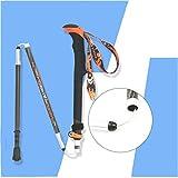 Outdoor Wandern Sticks, Faltbare zusammenklappbare Alpenstöcke, verstellbare Wrist Straps, 100% Carbon Trekkingstöcke, Outdoor-Reisen Bergsteigen Wanderstöcke (Farbe : EIN, Größe : 40-130cm)