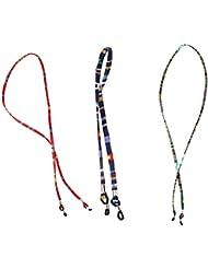Tinksky Gafas de sol Correa de gafas de sol antideslizante Eyeglass cadena de retenedores de gafas titular del cable correa de acollador 3 piezas (azul verde rojo)