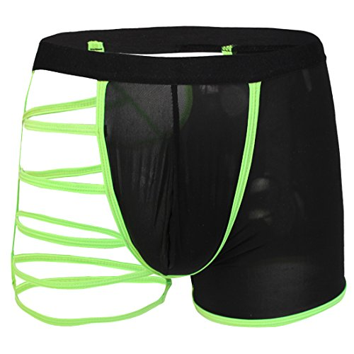 iEFiEL Männer Boxershorts Unterwäsche Herren Unterhosen Trunk Dessous Pants (Grün) (Thong Fetisch)