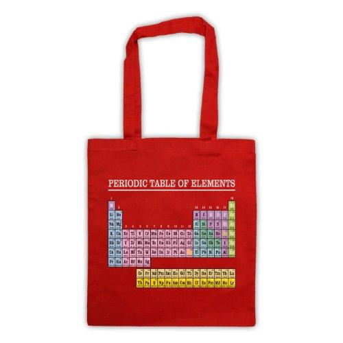 La tavola periodica degli elementi Geek-Borsa Rosso