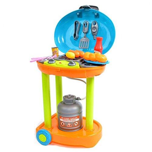☀ Elektrischer Spielzeug Grill Gasgrill Mini Kindergrill mit Licht und Sound ☀