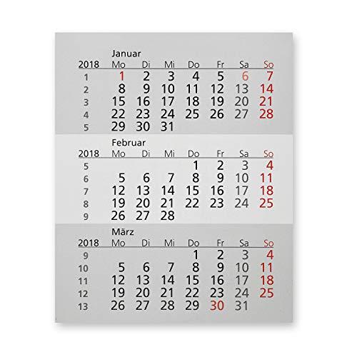 Truento Kalendarium für 2 Jahre (2020 & 2021) - passend für 3-Monats-Tischkalender Kunststoff