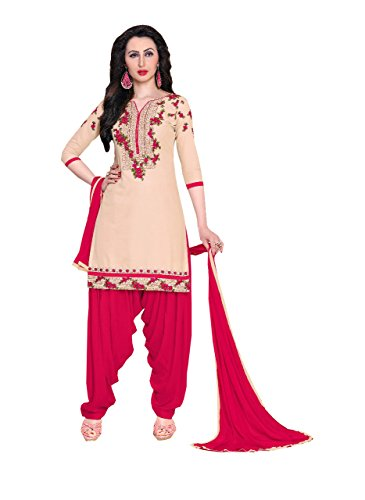 Special Mega Sale Festival Offer C&H Beige Cotton Semi-Stitched Patiala Salwar Suits
