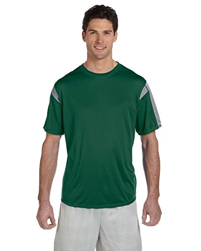 Russell Athletic 6b2dpm dri-power Kurzarm Performance T-Shirt DARK GREEN/STEEL