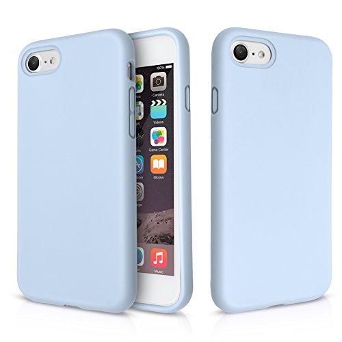 """iPhone 8 Hülle, Fuleadture iPhone 7 Liquid Silikon Schutzhülle Flüssigsilikon Mikrofaser Case Cover für iPhone 7/ 8 4,7"""" Hellblau"""