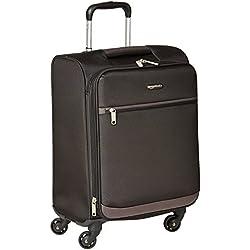 AmazonBasics - Maleta blanda con ruedas giratorias, 54 cm, para equipaje de mano, Negro